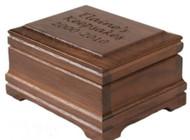 Walnut Keepsake box with optional custom engraving on the lid
