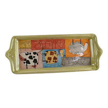 Sacha Cake Plate with sheep, cow and giraffe images.