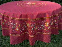 Fayence table cloth in red