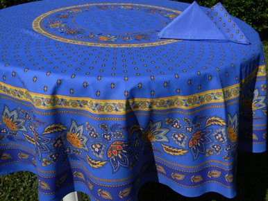 Lisa tablecloth in blue