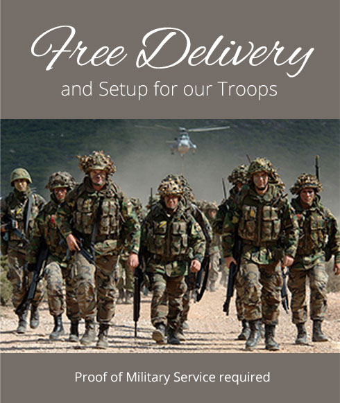 Free Delivery for our troops