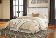 Willowton Whitewash Queen with Full Panel Headboard