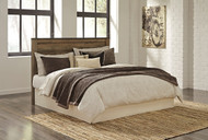 Trinell Brown King with California King Panel Headboard