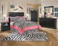 Maribel Black 4 Pc. Dresser, Mirror, Chest & Full Panel Headboard