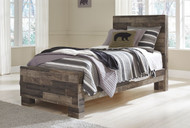 Derekson Multi Gray Twin Panel Bed