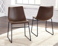 Centiar Brown with Black Dining Upholstered Side Chair