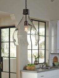 Avalbane Clear with Gray Glass Pendant Light