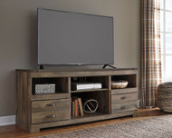 Trinell Brown LG TV Stand with Fireplace Option