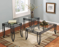 Exeter Black with Brown Occasional Table Set