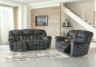 Capehorn Granite Reclining  Sofa & Double Recliining Loveseat with Console