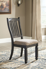 Tyler Creek Black/Gray Dining UPH Side Chair (2/CN)