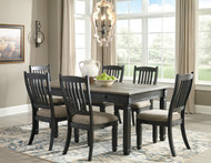 Tyler Creek Black/Gray Rectangular Dining Room Table