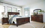 Porter Rustic Brown 6 Pc. Dresser, Mirror, Chest & Queen Panel Bed