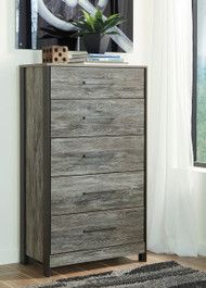 Cazenfeld Black with Gray Five Drawer Chest