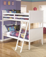 Lulu White Bunk Bed (twin/twin)