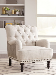 Tartonelle Ivory/Taupe Accent Chair