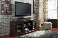 Chanceen Dark Brown Medium TV Stand/Fireplace Option