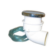 """SUCTION ASSEMBLY: CAREFLO CF W/TUBING CHROME 2"""" Wall Fitting CF-217 / 4-15-0142"""