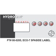 HydroQuip ECO-7 Decal Overlay Only, Part # 80-0205