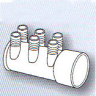 """2"""" Slip x Dead End 6-Port 3/4"""" Barbed Water Manifold Spa Hot Tub"""