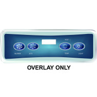 HydroQuip / Balboa Overlay Label, VL401 BL/P1/TEMP/LT, Part # 80-0226B