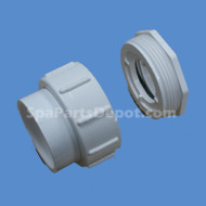 """Aqua-Flo Compression Fitting, 2"""" X 2"""" With Threaded Adapter, 1 1/2"""" X 2"""" - 52202100"""