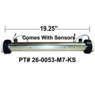 "HydroQuip / Balboa ""8000"" Series, M7 With SENSORS, 5.5KW, 2.25""x 19.25"", Part # 26-0053-M7-KS"