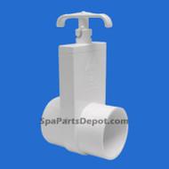 "Magic Plastic Slice Spa Hot Tub Valve 2"" s x s, Uni-Body - MFG# 0401-20-2"