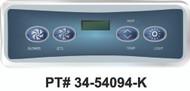 Balboa Light Digital Duplex LCD 4 Button Topside Control VL401 - 54094