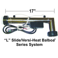 "HydroQuip / Balboa Series, ""L"" Shaped, 5.5KW, 2.25""x17"", 24"" Cord, M7, W/Clamps, Part # 26-67M-S00-1F03"
