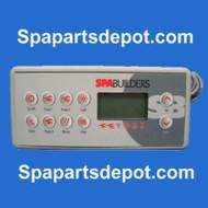 Gecko / Spa Builders Topside Control K-8 10 BUTTON -BDLTSC810K