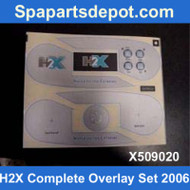 Master Spas 2006 H2X Complete Overlay Set X509020
