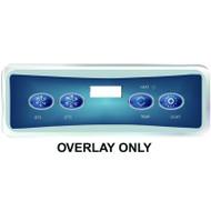 HydroQuip / Balboa Overlay Label, VL401 P1/P2/TEMP/LT, Part # 80-0226C