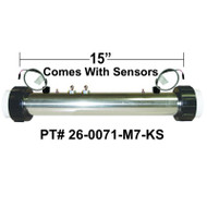 "HydroQuip / Balboa ""Water Pro"" Series M7 With SENSORS, 5.5KW, 2.25""x 15"", Part #  26-0071-M7-KS"