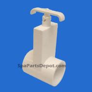 "Magic Plastic Slice Spa Hot Tub Valve 1 1/2"" s x s , Uni-Body - MFG# 0401-15"