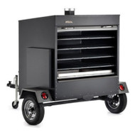 TRAGER' S LARGE COMMERCIAL SMOKER / BBQ WITH TRAILER - COM200