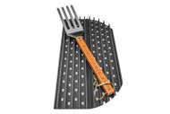 "HALF of GrillGrates for the XL Green Egg, Big Joe and 26.75"" Kettle + GrateTool"