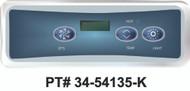 Balboa Light Digital Duplex LCD 3 Button Topside Control VL401 - 54135