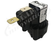 AIR SWITCH: 10AMP SPNO LATCHING, CENTER SPOUT