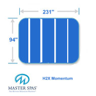 "Master Spas 94"" X 231"" H2X Swim Spa Cover Five Piece Momentum"