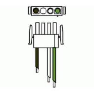 "Blower Cord - white 4-Pin 14/3x36"""
