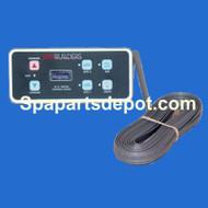 SPA BUILDERS LX-15 Topside 6 Button 25' Cord No Remote 3-00-0221