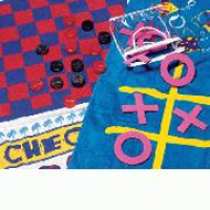 Game Towels Checkers or TicTacToe