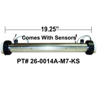 "HydroQuip / Balboa ""8000"" Series Gas Ready, M7 With SENSORS, 2.25""x 19.25"", Part # 26-0014A-M7-KS"
