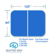 "Master Spas 94"" X 120"" Spa And Hot Tub Cover Two Piece"