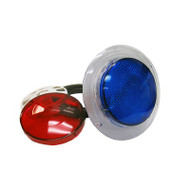 "LIGHT KIT: 3-1/2"" WALL FITTING W/LENSES (RED/BLUE)"