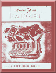 Ranger 6-440 C -2 -3 -4 -5   Aircraft Engine Opeating  Maintenance Manual  ( English Language )
