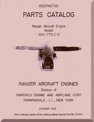 Ranger SGV-770  Aircraft Engine  Parts Catalog  Manual  ( English Language )