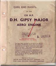 De Havilland  Major 130  H.P. Aircraft Maintenance and Overhaul t Manual  ( English Language )