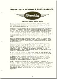 Franklin 4AC-176 Aircraft Engine  Operation Handbook & Parts Catalog  Manual  ( English Language )